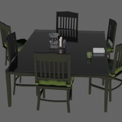 Turn Table - Dining Set